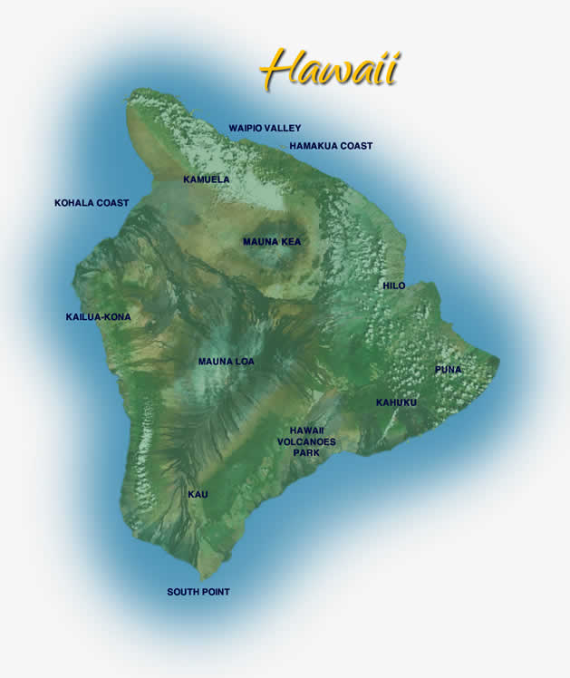 Big Island of Hawaii Helicopter Tour Routes Highlights