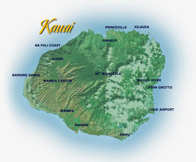 Kauai Helicopter Tour map and highlights