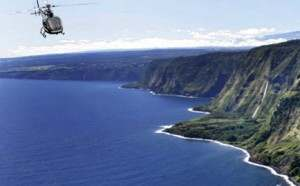 Helicopter tour over the Hamakua Coast